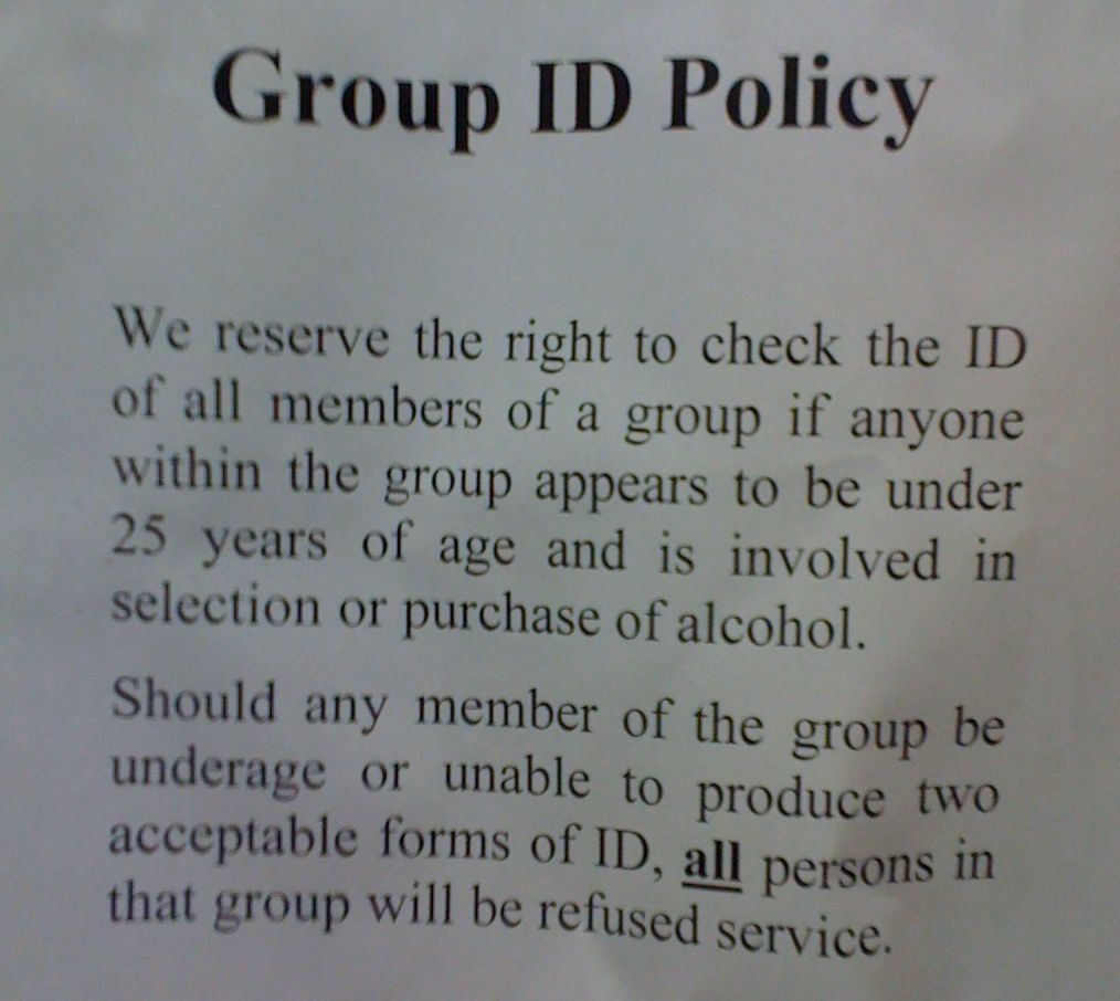 ID Policy Helps Minors Buy Alcohol