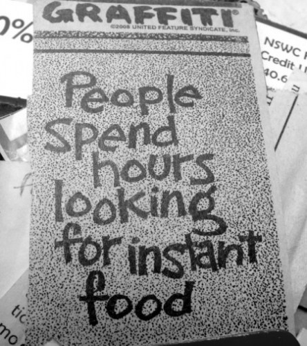 People Spend Hours Looking for Instant Food